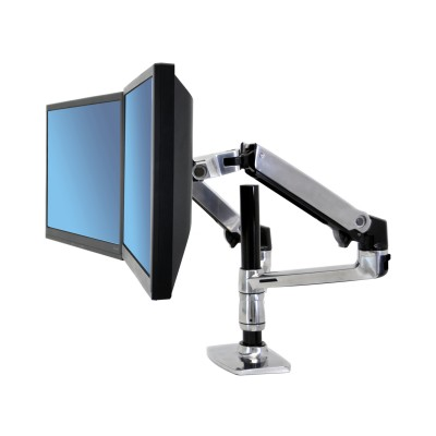Ergotron LX Dual Stacking Monitor Arm - Horizontal Alignment