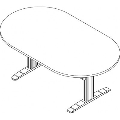 RightAngle's NewHeights Elegante XT Conference Table - 2 Leg Oval