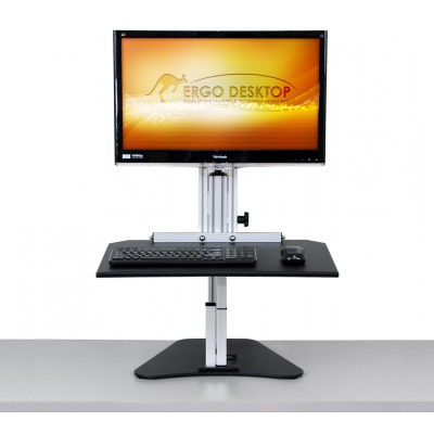 Wallaby Junior Sit Stand Workstation - Raised, Front View