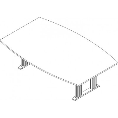 RightAngle's NewHeights Elegante XT Conference Table - 4 Leg Boat