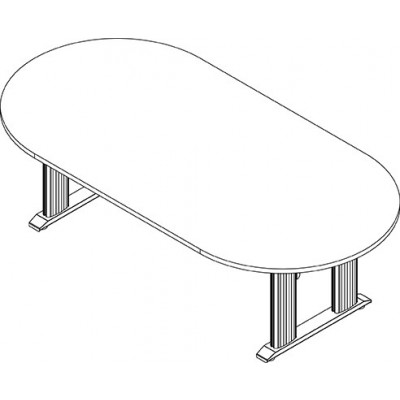 RightAngle's NewHeights Elegante XT Conference Table - 4 Leg Oval