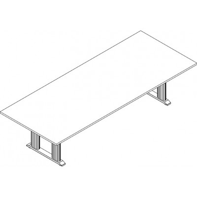 RightAngle's NewHeights Elegante XT Conference Table - 4 Leg Rectangle