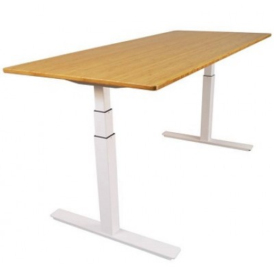 Uprise Bamboo Desk with Caramelized Top