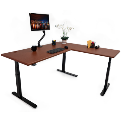 iMovR Lander L-Desk - Crossfire Java - Hero