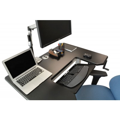 Omega Denali Stand Up Desk with SteadyType Keyboard Tray