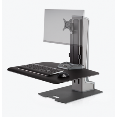 Winston-E Desktop Riser, Single Monitor - Front View