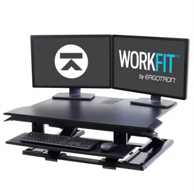 WorkFit-TX Standing Desk Converter - Front View