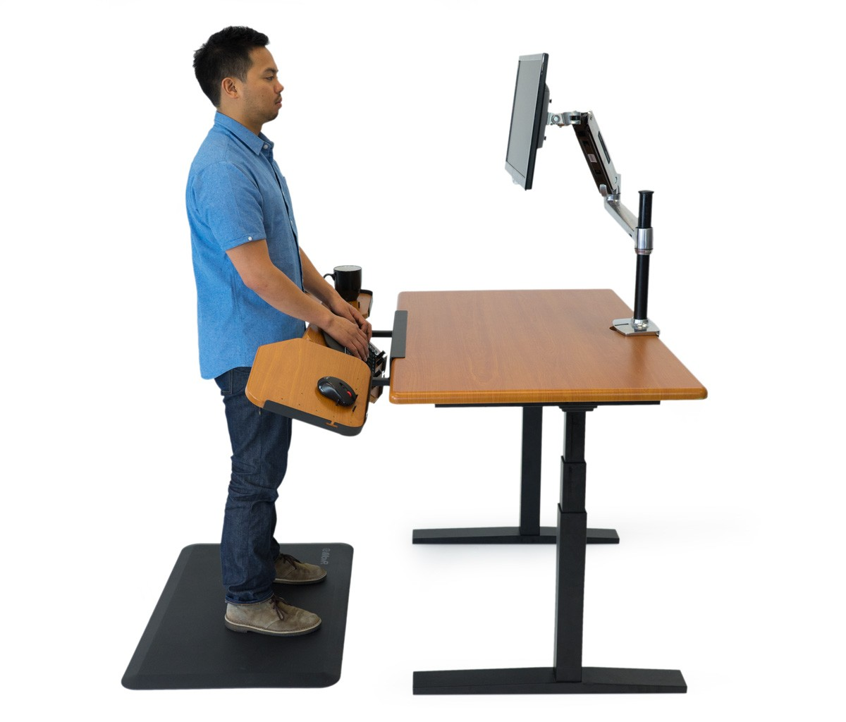 Elevon Ergonomic Keyboard Tray For Standing Desks And