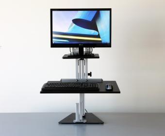 Single Monitor Kangaroo Desktop Risers