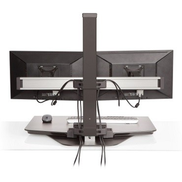 winston standing desk converter three monitors. Black Bedroom Furniture Sets. Home Design Ideas