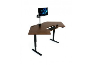 Cascade Corner Standing Desk - Angled Right w/ Monitor Arm