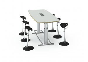 Focal Upright Furniture's Confluence Collaboration Table Bundle