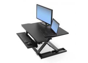 WorkFit-TX Standing Desk Converter - Top View