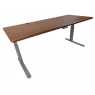 "Elite Stand Up Desk in Urban Walnut Top (72"") on Silver Base"