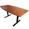 "Synapse Scrum Table- Shaker Cherry 36""x72"" top on Black Base"