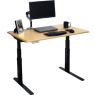 Elite Stand Up Desk in Almond Cherry with 4 Memory Presets and Powerful Motor