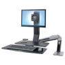 Ergotron WorkFit-A, LCD LD w/ WorkSurface+