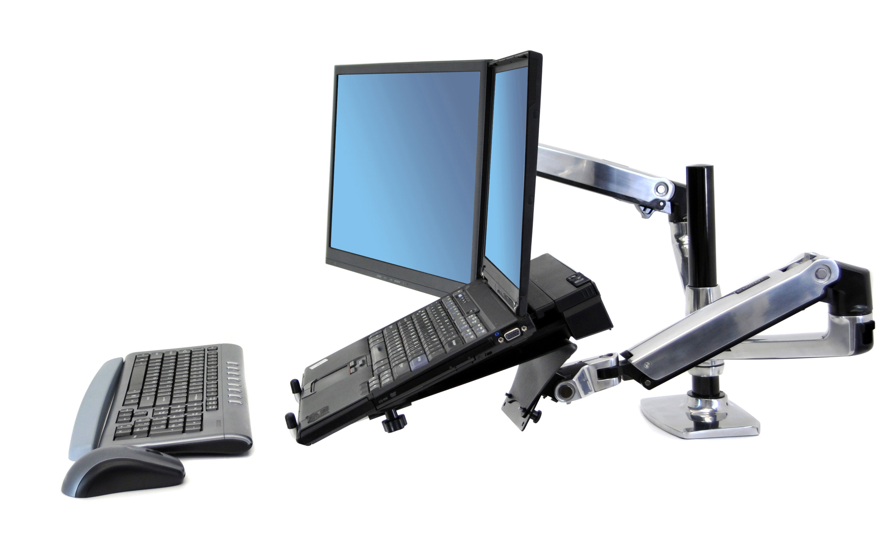 Ergotron LX Dual Stacking Arm - Monitor & Laptop