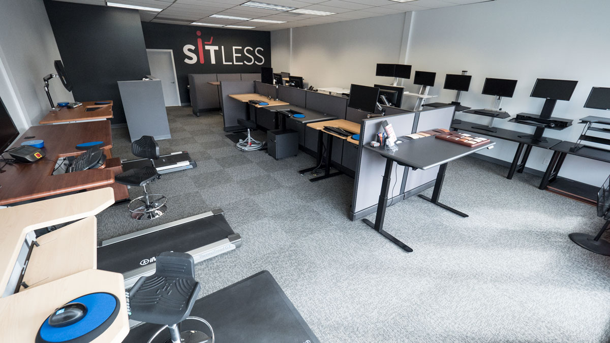 SitLess Demonstration Showroom