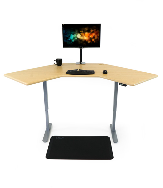 iMovR Energize Standing Desk with Monitor Arm, Mat