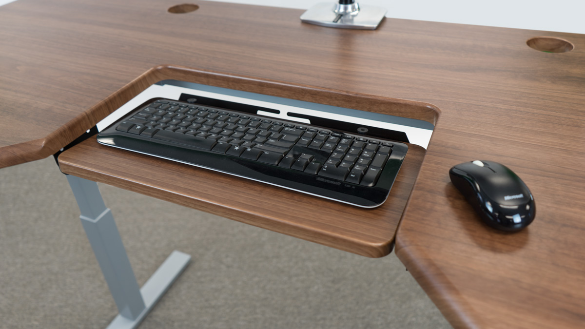 Stand Up Desks With Ergonomic Keyboard Tray